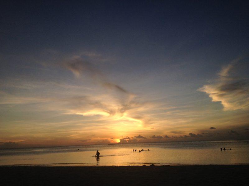 グアムの夕日