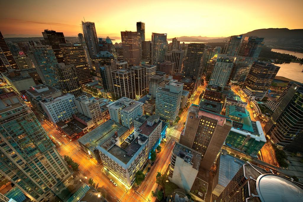 カナダ・バンクーバーの夜景