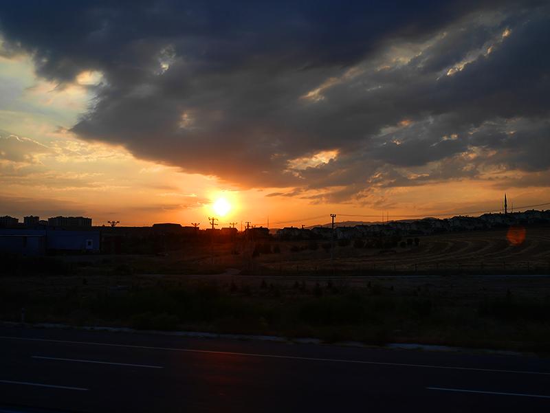 トルコの日没