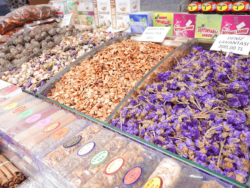 イスタンブールの市場