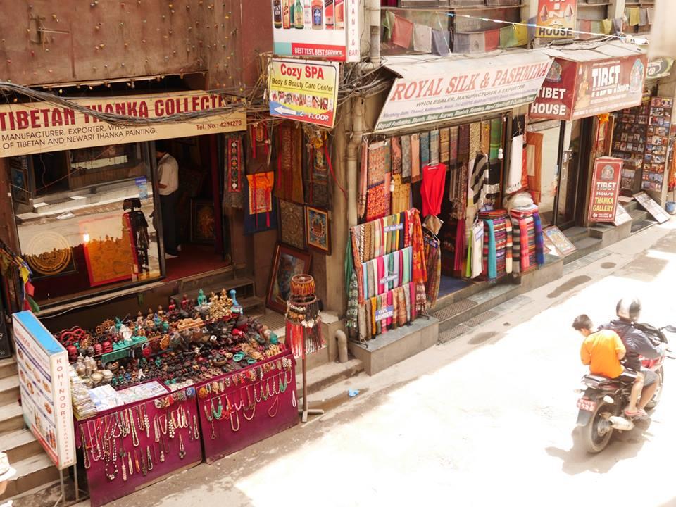 ネパール・カトマンズ・タメル地区の街並み